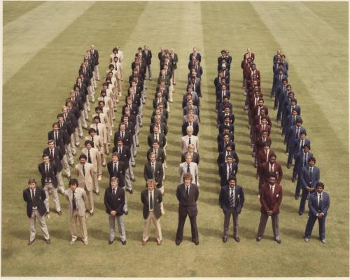 Teams line up at Lord's ready to compete in the 2nd Cricket World Cup in 1979.